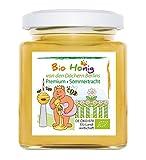 Bio Honig (Lindenhonig) aus Deutschland - Premium Qualität - kleine Berliner Imkerei - Gold, cremig und frisch. (DE-ÖKO-070)