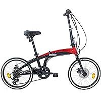 Coppi RP1X20206D.29NR Vélo Pliable Mixte Adulte, Rouge, Taille : 20 Pouces