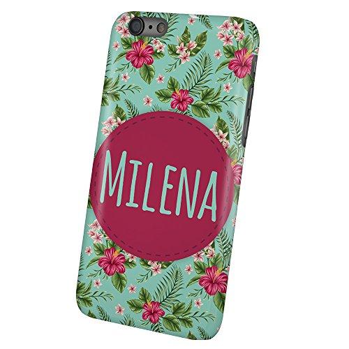 "PhotoFancy - iPhone 6 Plus / 6s Plus Handyhülle mit Name Milena - Design ""Flower"""