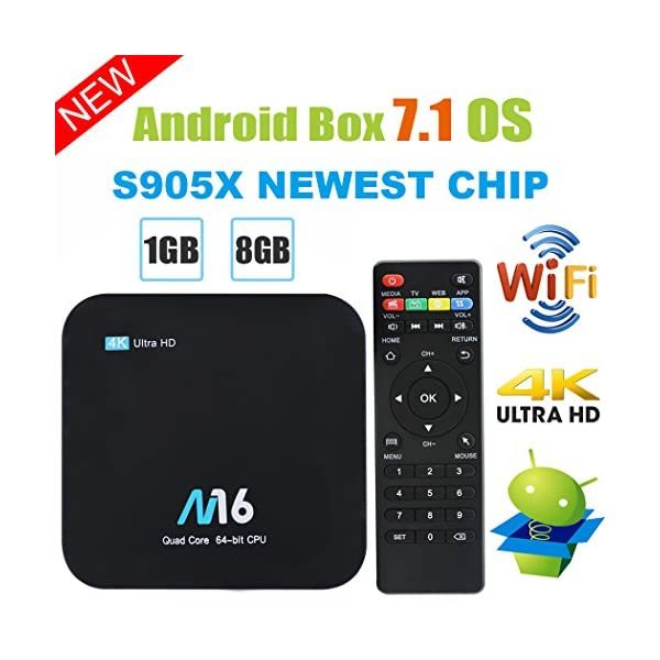TV-Box-Android-71--Viden-Smart-TV-Box-Amlogic-S905-x-Quad-Core-1-GB-RAM-8-Go-ROM-UHD-4-K-2-K-H265-HDMI-USB-2-24-Ghz-WiFi-Web-TV-Box-Android-Set-Top-Box-Tlcommande