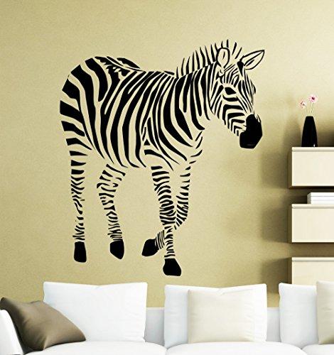 jiushizq Adesivi murali Animali Giungla Africana Zebra Cool Silhouette Art Vinile Murales Home Livingroom Special Decor WM 57x70cm