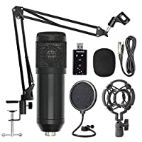 Lixada BM800 Suspension Microphone Kit Studio Live Stream Broadcasting Recording Condenser Microphone Set