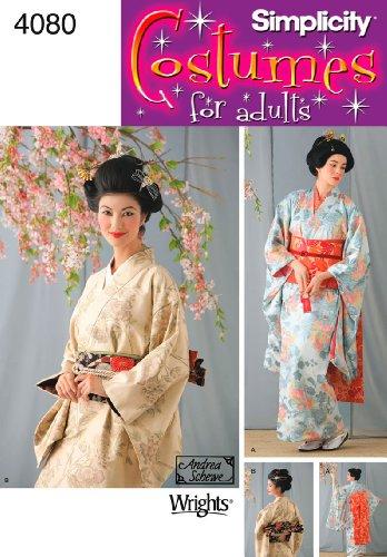 Simplicity Schnittmuster 4080HH Schnittmuster (Asian Kostüm Halloween)