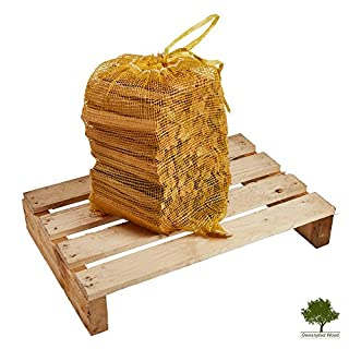 Kindling Wood - Kiln Dried, Natural Firelighters Ideal for Fire Starting 5kg Nets Premium Quality Ready to Light - Fast Delivery