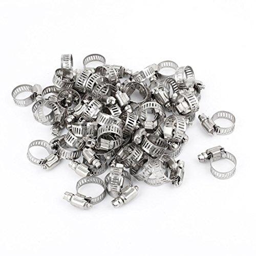 100 Pcs 13 à 19 mm créoles métal pour collier de serrage à vis sans fin