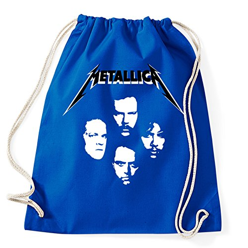 Art T-shirt, Zaino Sacca Metallica Faces, Blu