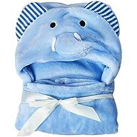 Toalla de bebé con capucha, de Hinmay, suave forro polar de coral, con