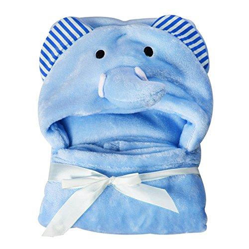 Baby Badetuch mit Kapuze Handtuch Korallenrotes Vlies Waschlappen Baddecke, saugfähigen weichen Kleinkind niedlichen Tier Kapuzen Badetuch Baby Dusche Geschenk