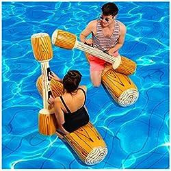 Artistic9 Gigante Inflable Flotador Barco Playa Vacaciones Piscina Beat Bañador Barra rajada Agua Divertido Juguetes para Mujeres Hombres Niños, Amarillo, 2 Sitting Sticks + 2 Hand Sticks
