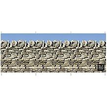 Olpro - Rompevientos (piedra, 4,8 x 1,4 m, 4 varas), diseño de muro de piedras