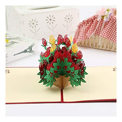ZHOUBIN 2 fogli/set Carta 3D creativa/cartoncino rosa benedizione/regalo di Natale