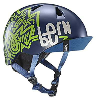 Bern Boys' Nino Helmet with Visor-Matte Black, Small/Medium by BEROG|#Bern