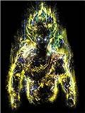 Posterlounge Acrylglasbild 30 x 40 cm: 50 Millionen-Energie-Krieger Goku von Barrett Biggers - Wandbild, Acryl Glasbild, Druck auf Acryl Glas Bild
