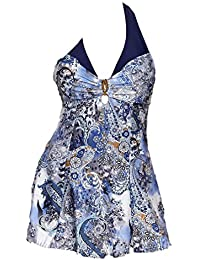 Damen Bikini Set Große Größen Badeanzug Tankini Digital Drucken V Kragen  Schwimmanzug Bademode Strandmode Sling Bikini b30c677831