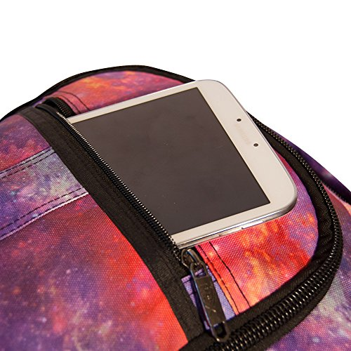 Cabin Max Backpack Flight Approved Carry On Bag Massive 44 litre Travel Hand Luggage 55x40x20 cm (Galaxy Pink)