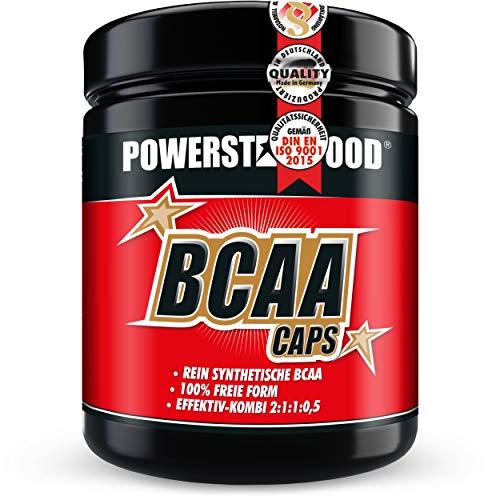 BCAA CAPS - 500 Kapseln - im stärksten Verhältnis 2:1:1:0,5 - mikrokristallienes L-Leucin, L-Isoleucin, L-Valin und L-Alanin für Muskelaufbau und Muskelerhalt - Aminos - Made in Germany