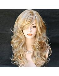 27613 UK - Perruque cheveux longs, blonds et ondulés
