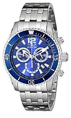 INVICTA 620 - Reloj de cuarzo para hombre, con correa de acero inoxidable, color plateado de INVICTA