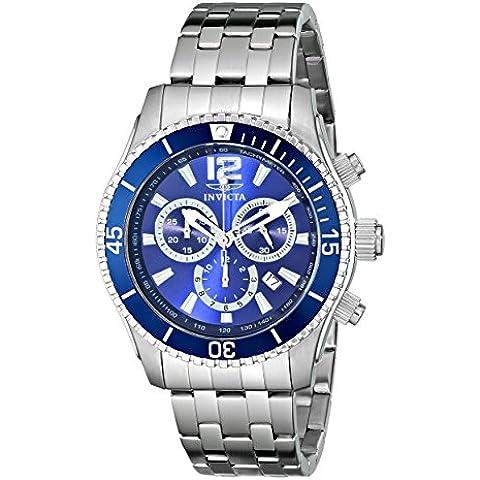 INVICTA  620 - Reloj de cuarzo para hombre, con correa de acero inoxidable, color plateado