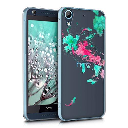 kwmobile HTC Desire 626G Hülle - Handyhülle für HTC Desire 626G - Handy Case in Türkis Pink Transparent