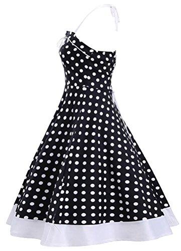 Brinny 2017 Femme Robe Vintage 1950's Audrey Hepburn pin-up robe de soir¨¦e cocktail style halter ann¨¦es 50 ¨¤ pois Nior