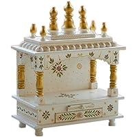 Kamdhenu art and craft Wooden Home Temple - 15 x 8 x 18 Inch (Beige)