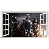 Batman vs Superman Magic ventana adhesivo de pared autoadhesivo Póster Tamaño de Arte de la pared V31000mm de ancho x 600mm de profundidad (Tamaño Grande)