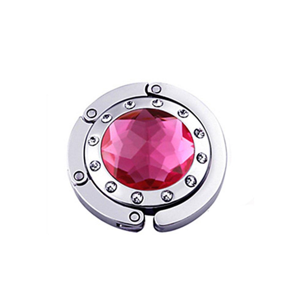 Gancio gancio Borsa Pieghevole Borsa A Mano Moda cristallo colori a scelta rose-rouge