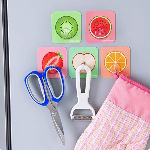 FACAI Tragen Sie Keine Spur starker klebender Haken-Küchen-Badezimmerwand mit klebriger Hakenkiwi Früchte -