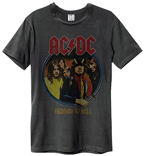 Amplified AC/DC Highway to Hell T-Shirt Charcoal