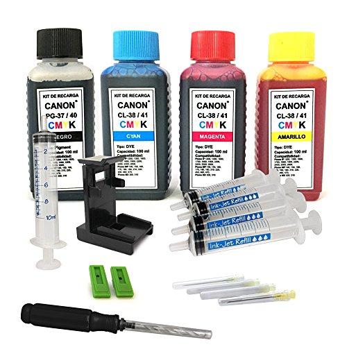 Kit de recarga para cartuchos de tinta Canon 40, 41 negro y color, tinta de alta calidad incluye clip y accesorios
