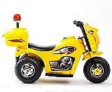 Lvbeis Kinder Elektro Motorrad 6 Volt Akku Motorcycle Musik Kindermoped Kleinkinder Motocross,Yellow