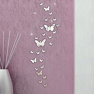Zarupeng 30PC Schmetterling Kombination 3D-Spiegel-Wand-Aufkleber-Dekoration-DIY
