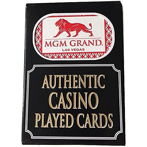 4x Cubiertas MGM Grand Las Vegas Casino Jugando Cartas de póquer