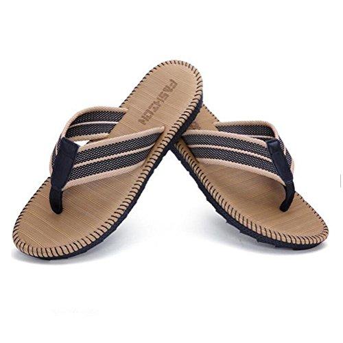 Pantoufles dété pantoufles pour hommes Tongs sandales imperméables anti-dérapant résistant à lusure plage chaussures dextérieur Acheter 2 get 1 free brown