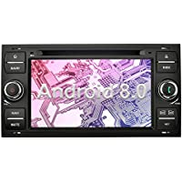 Ohok 7 Pulgadas 2 Din Autoradio Android 8.0.0 Oreo Octa Core 4GB Ram 32GB Rom Reproductor DVD / GPS Navegador Radio Soporta Bluetooth WIF AV-IN DAB Para Ford C-Max/Connect/Fiesta/Focus/Fusion/Galaxy/Kuga S-Max/Transit Negro