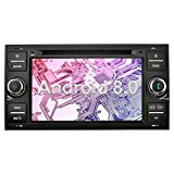 Ohok 7 pouces écran Android 8.0.0 autoradio 2 Din Oreo Octa Core Stéréo 4G+32G Sat Nav avec Lecteur DVD Supporte GPS Bluetooth WLAN DAB+ OBD2 pour Ford C-Max/Connect/Fiesta/Focus/Fusion/Galaxy/Kuga S-Max/Transit