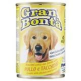 Gran Bontã - Alimento Completo Per Cani, Bocconi Cotti Nel Forno Con Pollo E Tacchino - 24 pezzi da 400 g [9600 g]