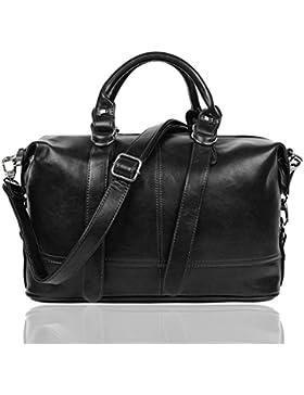 EGOGO Damen Handtasche Frauen PU Leder Handtaschen Crossbody Schultertaschen Top Handle Taschenbeutel E522-7