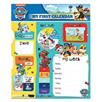 Danilo My First Activity Calendar Paw Patrol Childrens Educational Toy - Teach Your Child Days, Months, Weather and Seasons Starts Any Date With Wall Hanging Hook