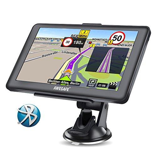 AWESAFE Navigationsgerät 7 Zoll Touchsreen 8GB/256M mit Bluetooth Lebenslang Karten