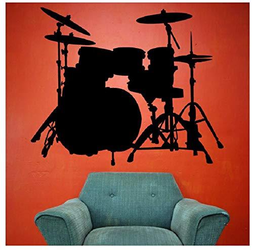jqpwan Wandaufkleber Wandaufkleber Drum Set Dekoration Musik Gebunden Becken Aufkleber Kind Schlafzimmer Aktive Poster Wandbild Decel Abnehmbare 57 * 71 Cm - Lego Drum-set