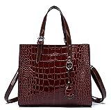 QKa Krokodil Pattern Shoulder Bag Frauen Luxury Leder Clutch Tasche Bag Lady Handtaschen Female,A