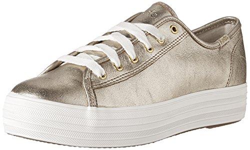 Keds Tpl Kick Met. Suede Platinum, Sneaker Donna Oro (or)