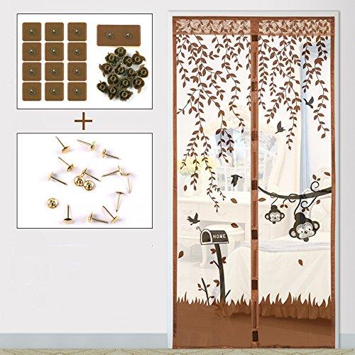 Sommer (magnetische anti - moskito - vorhang), Tür und Fenster - verschlüsselung im schlafzimmer - vorhang semi - permeable Garn-H-140x220cm(55x87inch)