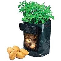 Newcomdigi Sacco per Coltivazione di Patate Borsa per Piantare Piantine di Ortaggi Grow Bag in PE Impermeabile Sacchetto del Giardino Balcone 45 x 35 cm Nero - 1