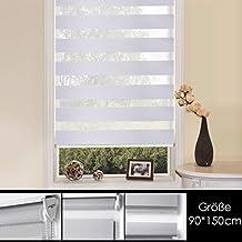 SHINY HOME® Estores enrollables Opacos Noche y Día para ventana y salon,multicolor