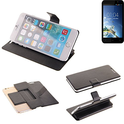K-S-Trade Schutz Hülle für Kazam Tornado 2 5.0 Schutzhülle Flip Cover Handy Wallet Case Slim Handyhülle bookstyle schwarz
