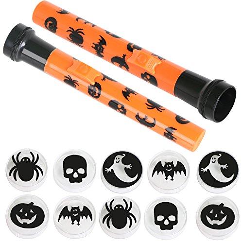 TRIXES 2er-Pack gruselige Halloween LED Taschenlampen Schatten Projektoren