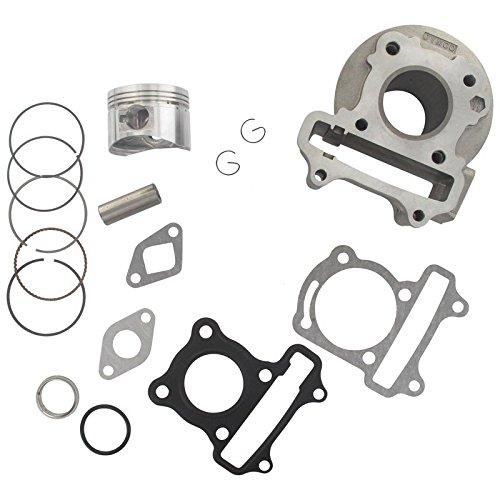 Xfight-Parts Zylinderkit komplett mit Kolben D39mm , Ringe, Bolzen,Clips Dichtg, 4Takt 50ccm 139QMA/QMB